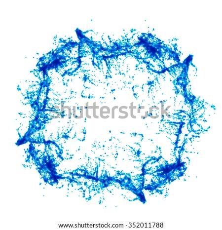 Blue water splash isolated on white - stock vector