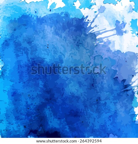 blue watercolor background - stock vector