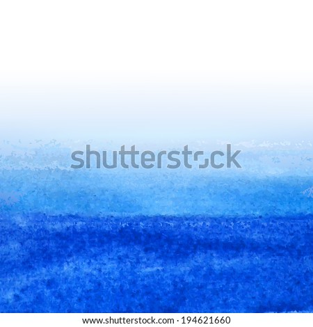 Blue Watercolor Background, Vector Illustration - stock vector