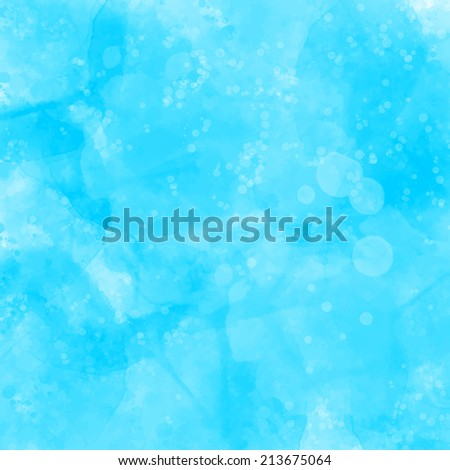 Blue watercolor painted grunge texture. Artistic vector background with lot of spots, blots and stains. - stock vector