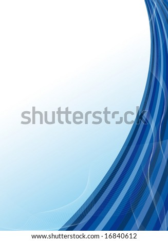 Blue Wave Abstract background Ornaments Blank for your design VECTOR (See Jpeg Also In My Portfolio)