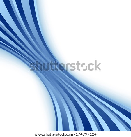 Blue wave - abstract folder template. Vector illustration