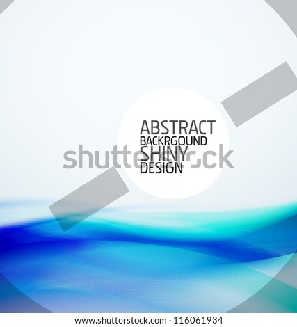 Blue wave background - stock vector