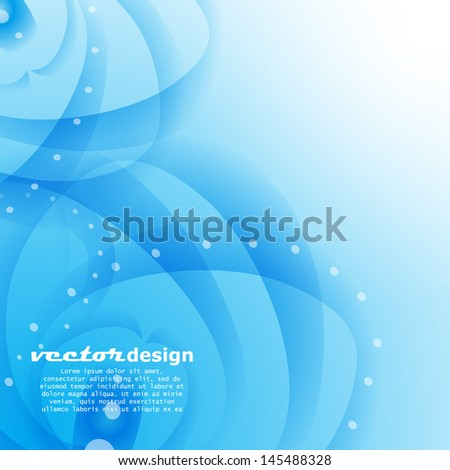 Blue wave background. Vector illustration for your design.