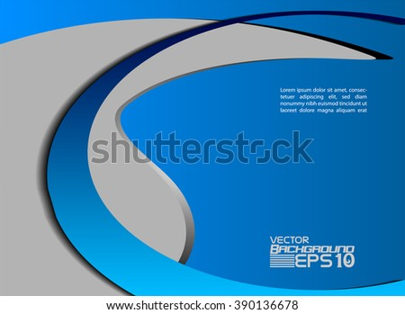 blue wave background vector overlap dimension 3d graphic metal color message board for text and message design frame line shadow for modern web design eps10 infographic  - stock vector