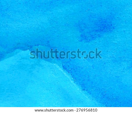 Blue wave hand drawn paper texture background. Vector abstract brush painted smudges illustration. Water design card for banner, template, cover, decoration, print, wallpaper. Macro wet grain surface