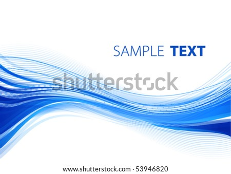 Blue wave. Vector