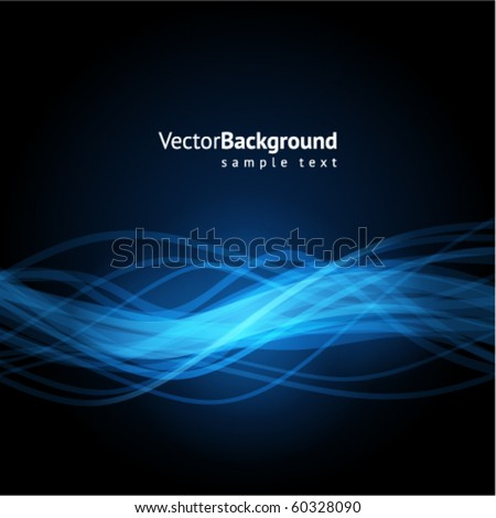 Blue waveform vector background - stock vector