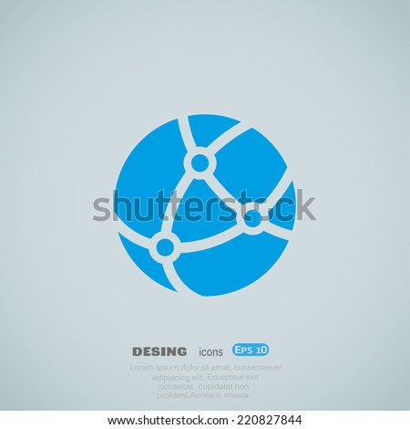 Blue web icon .Vector design - stock vector