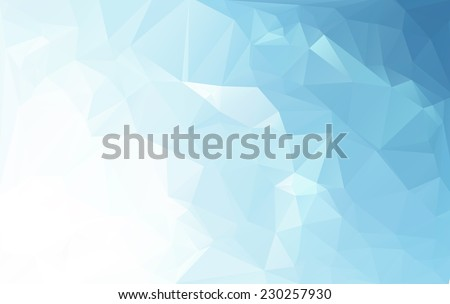 Blue White Light Polygonal Mosaic Background, Vector illustration,  Business Design Templates - stock vector
