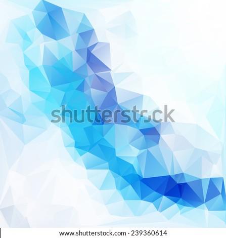 Blue White  Polygonal Mosaic Background, Vector illustration,  Creative  Business Design Templates - stock vector