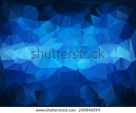 Blue White  Polygonal Mosaic Background, Vector illustration,  Creative  Business Design Templates - stock vector