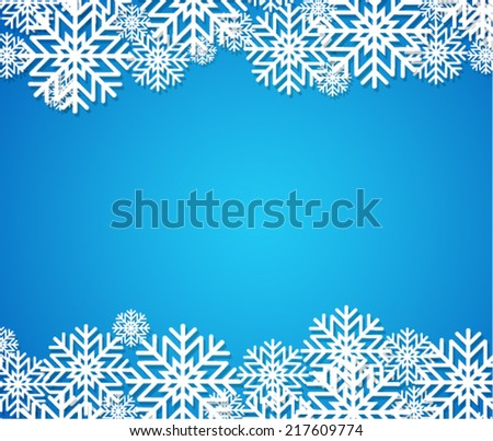Blue winter background - stock vector