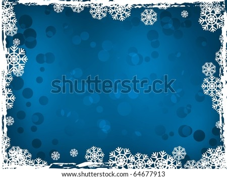 blue winter background.holiday image - stock vector