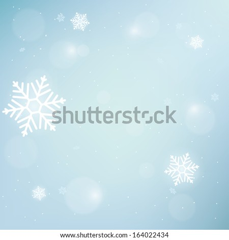 blue winter blurred background. vector illustration. eps10 - stock vector