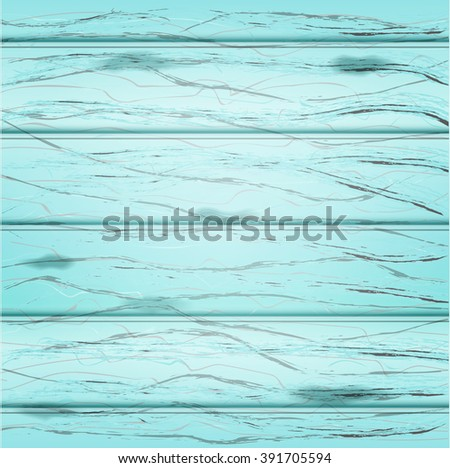 Blue wood background. Vector illustration - stock vector