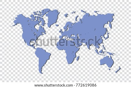 Blue world map isolated on transparent stock vector 772619086 blue world map isolated on transparent background vector illustration gumiabroncs Images