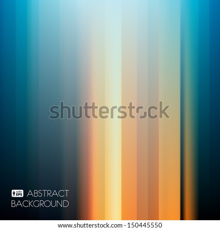 Blue-Yellow Dark Abstract Striped Background. Vector Illustration. - stock vector