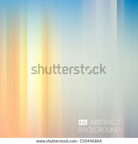Blue-Yellow Light Abstract Striped Background. Vector Illustration. - stock vector