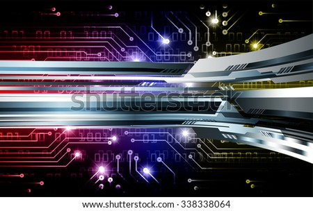 blue yellow red illustration of technology internet network computer background with binary number, style. infographics. Information. motion blur. pixel. Binary digit. number. vector. silver