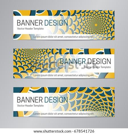 blue yellow website header design abstract stock vector royalty