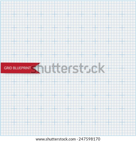 Blueprint abstract background grid - stock vector