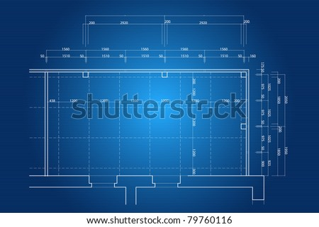 Blueprint background - stock vector