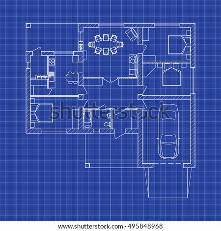 Architecture blueprint stock images royalty free images vectors blueprint floor plan of a modern apartment on graph paper vector blueprint architectural background malvernweather Gallery