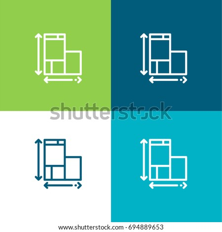 Blueprint green blue material color minimal stock vector 694889653 blueprint green and blue material color minimal icon or logo design malvernweather Choice Image