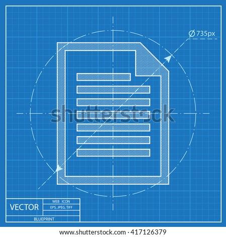 Blueprint icon document stock vector 417126379 shutterstock blueprint icon of document malvernweather Choice Image