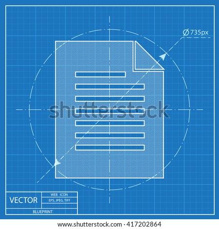Blueprint icon documents stock vector 417126376 shutterstock blueprint icon of document malvernweather Choice Image