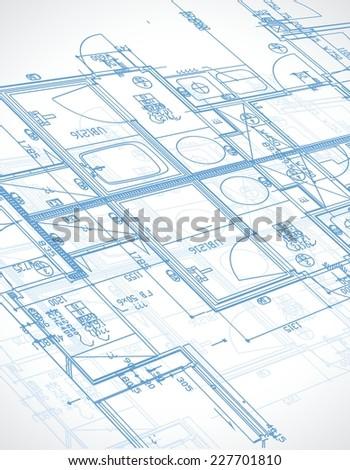 Blueprint illustration design over white background stock vector blueprint illustration design over a white background malvernweather Choice Image