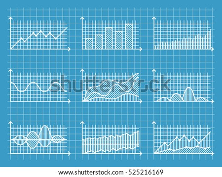 Blueprint infographic line graphs charts template stock vector blueprint infographic line graphs charts template for presentation report business design vector illustration malvernweather Choice Image