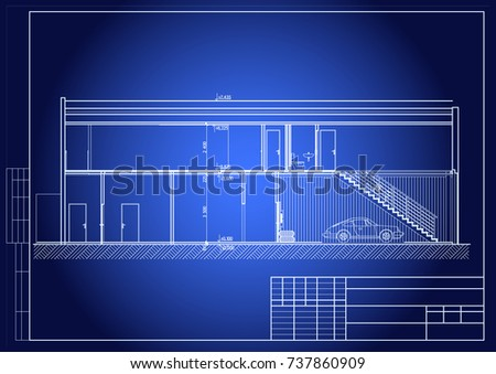 Blueprint car service repair facility office stock photo photo blueprint of car service repair facility office vector malvernweather Images