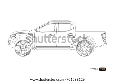 Blueprint suv contour drawing car on stock vector 701299126 blueprint of suv contour drawing of car on a white background side view of malvernweather Image collections