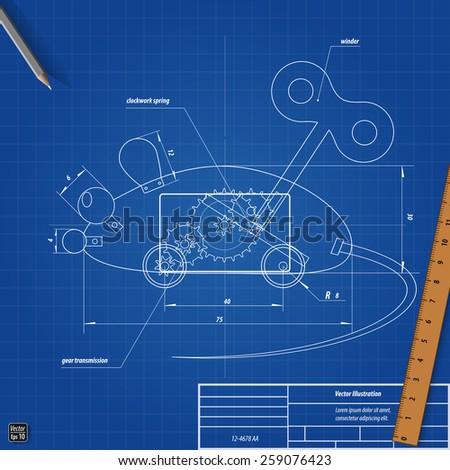 Blueprint toy clockwork mouse vectores en stock 259076423 shutterstock blueprint toy clockwork mouse malvernweather Gallery