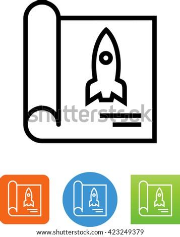 Blueprint rocket engineering business plan icon stock photo photo blueprint with rocket engineering business plan icon malvernweather Choice Image