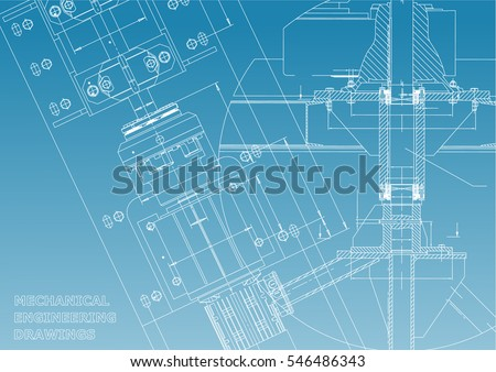 Blueprint stock images royalty free images vectors shutterstock blueprints mechanical engineering drawings technical design cover banner blue and white malvernweather Images