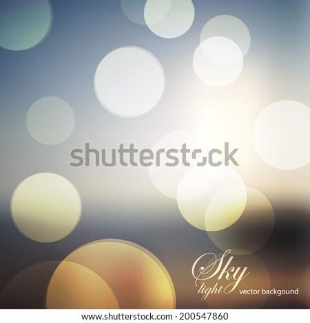Blur landscape background. Vector illustration - stock vector