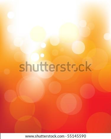 blur lights fire background - stock vector