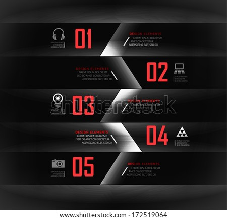 Blur, shadows background, options banner. Vector illustration. can be used for , diagram, number options, step up options, web template, infographics.