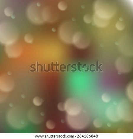 Blurred background with bokeh effect. Vector illustration