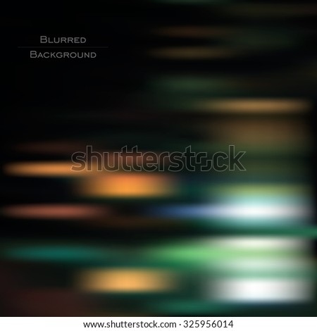 Blurred city background. Vector illustration with place for your text