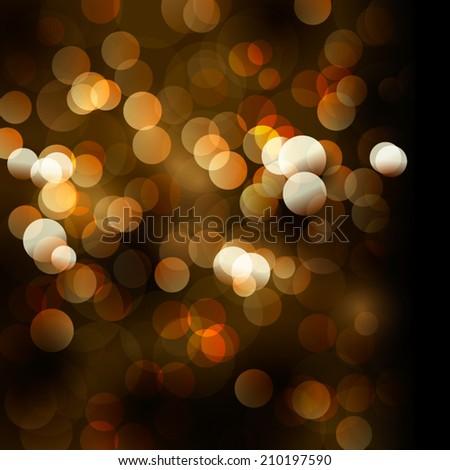 Blurred defocus lights. Vector background. - stock vector