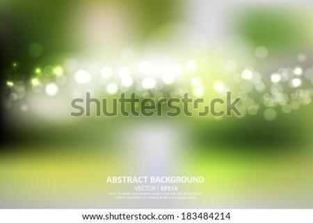 Blurred green background bright spring summer. Vector EPS 10 illustration. - stock vector