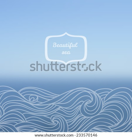 Blurred nature travel design hand draw stock vector 233570146 blurred nature travel design with hand draw waves ocean vector backdrop sea vector illustration ccuart Gallery