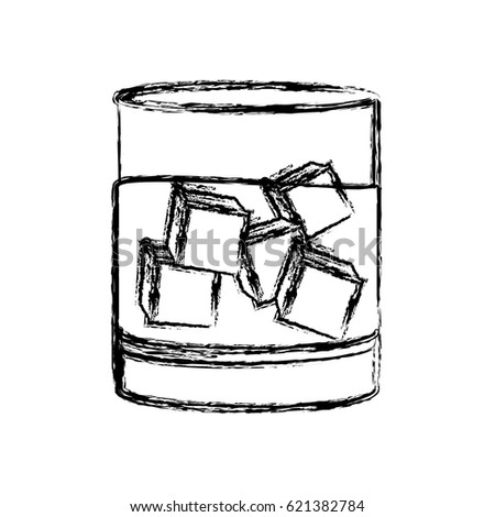 Whiskey Glass Drink Outline