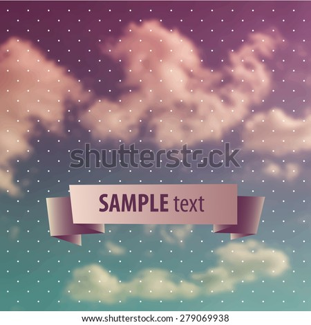 Blurred sky vintage background - stock vector
