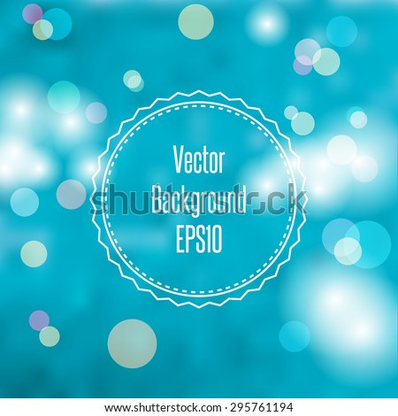Blurred spring or summer abstract background in light pastel colors with bokeh copyspace for your text. Vector Illustration EPS10. - stock vector