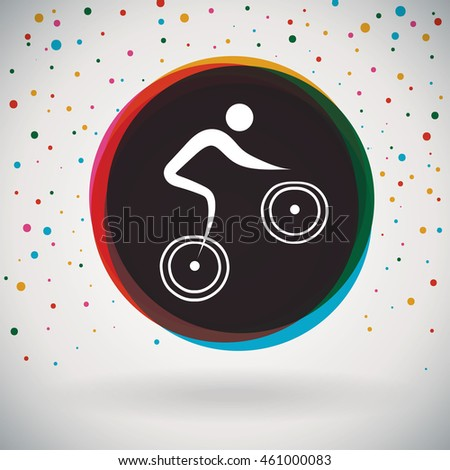 BMX - Colorful icon and sports background